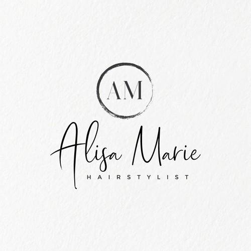 Feminine logo concept for Alisa Marie