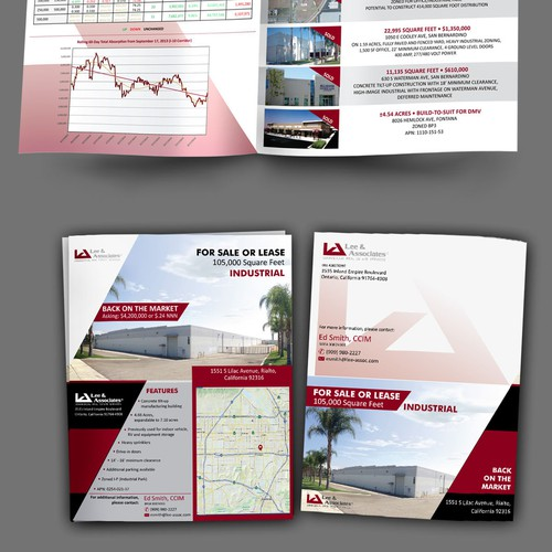 Industrial real estate marketing brochure