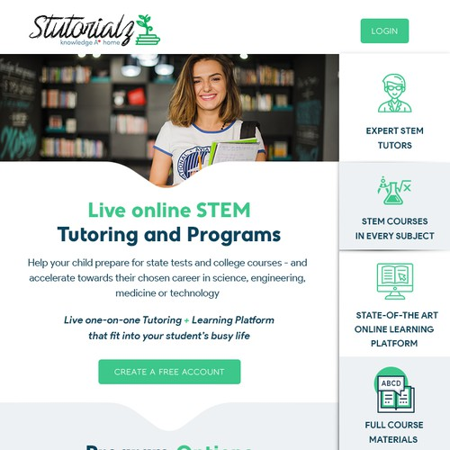 Email design for Online Tutoring