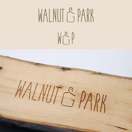 Bold logo concept for  walnut & park