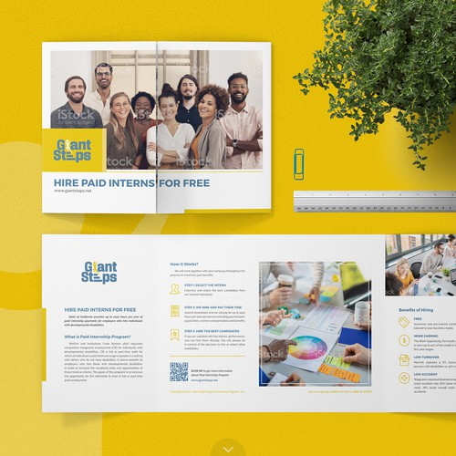 Giant Steps Gate-Fold Brochure