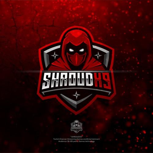 SHROUDX9 Ninja eSports Mascot Logo