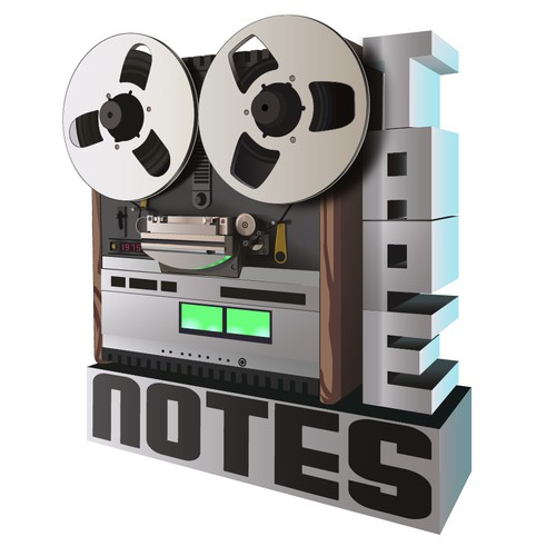 Illustration of real to reel tape machine