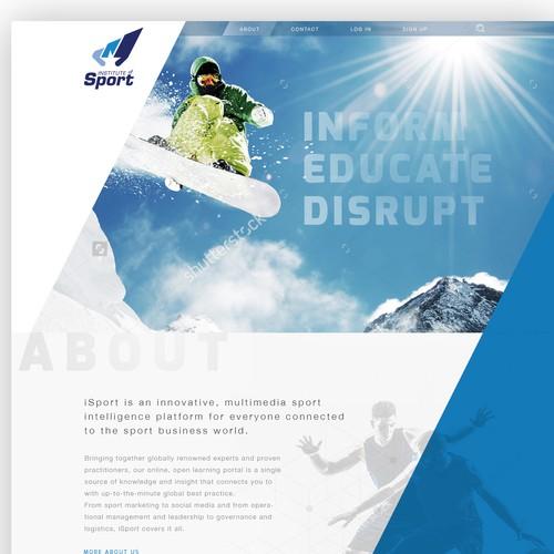 Institute of Sport webpage