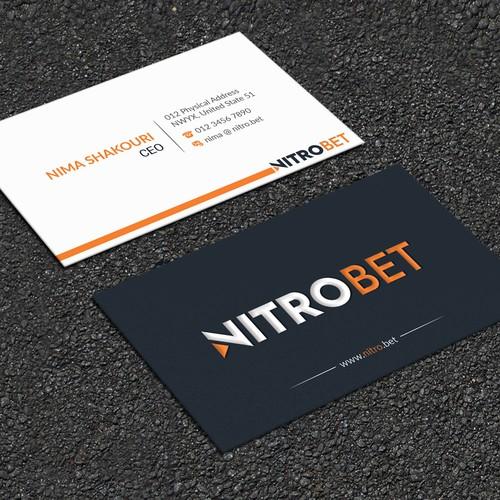 Nitrobet needs luxury business card design