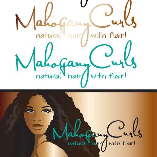 logo illustration for MAHOGANY CURLS