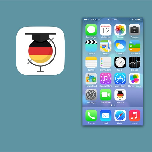 Professional designer to create iOS7 app icon for best language learning app