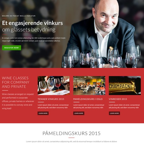 In Vino Veritas Website Design