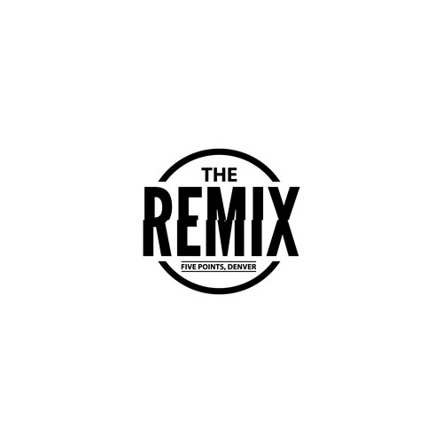 The remix logo design