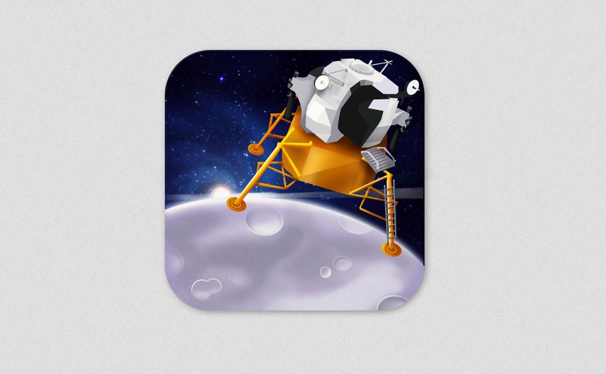 Create a new app icon for Lunar Module 3D
