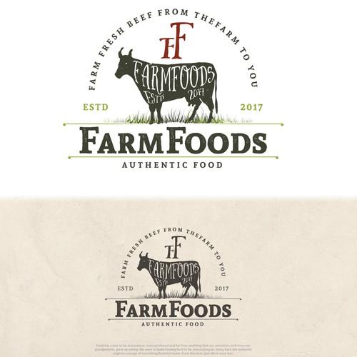 Beef farm logo