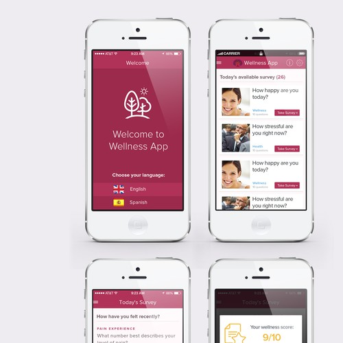 Wellness tracking mobile app appealing to bilingual audience