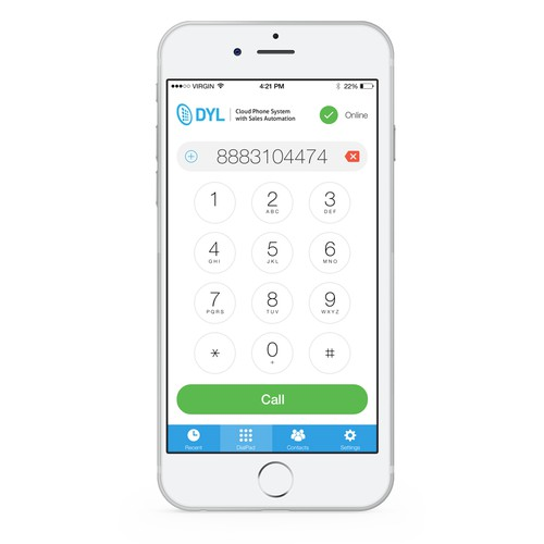 DYL Phone: VoIP softphone combined with a mobile contact manager
