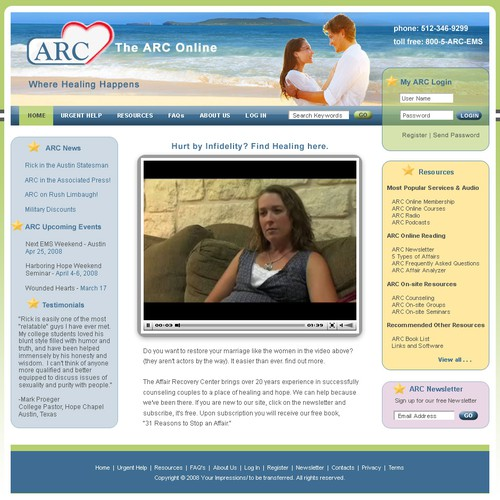 Counseling and Support Website
