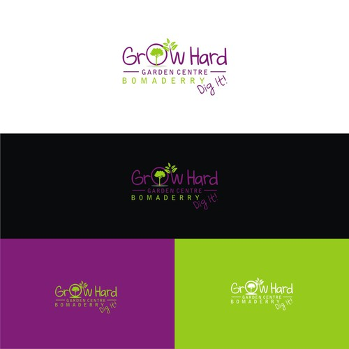 Create a stylish modern logo for a garden centre
