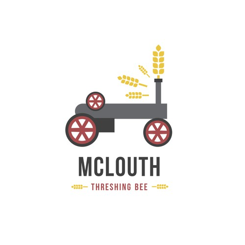 Agricultural logo for McLouth Threshing Bee
