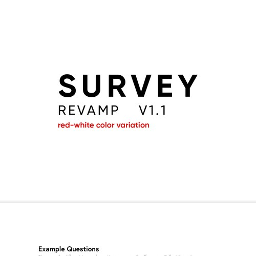 CSS design for online survey