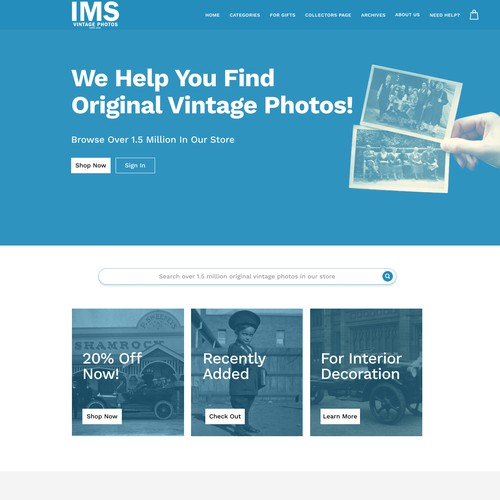 IMS landing page