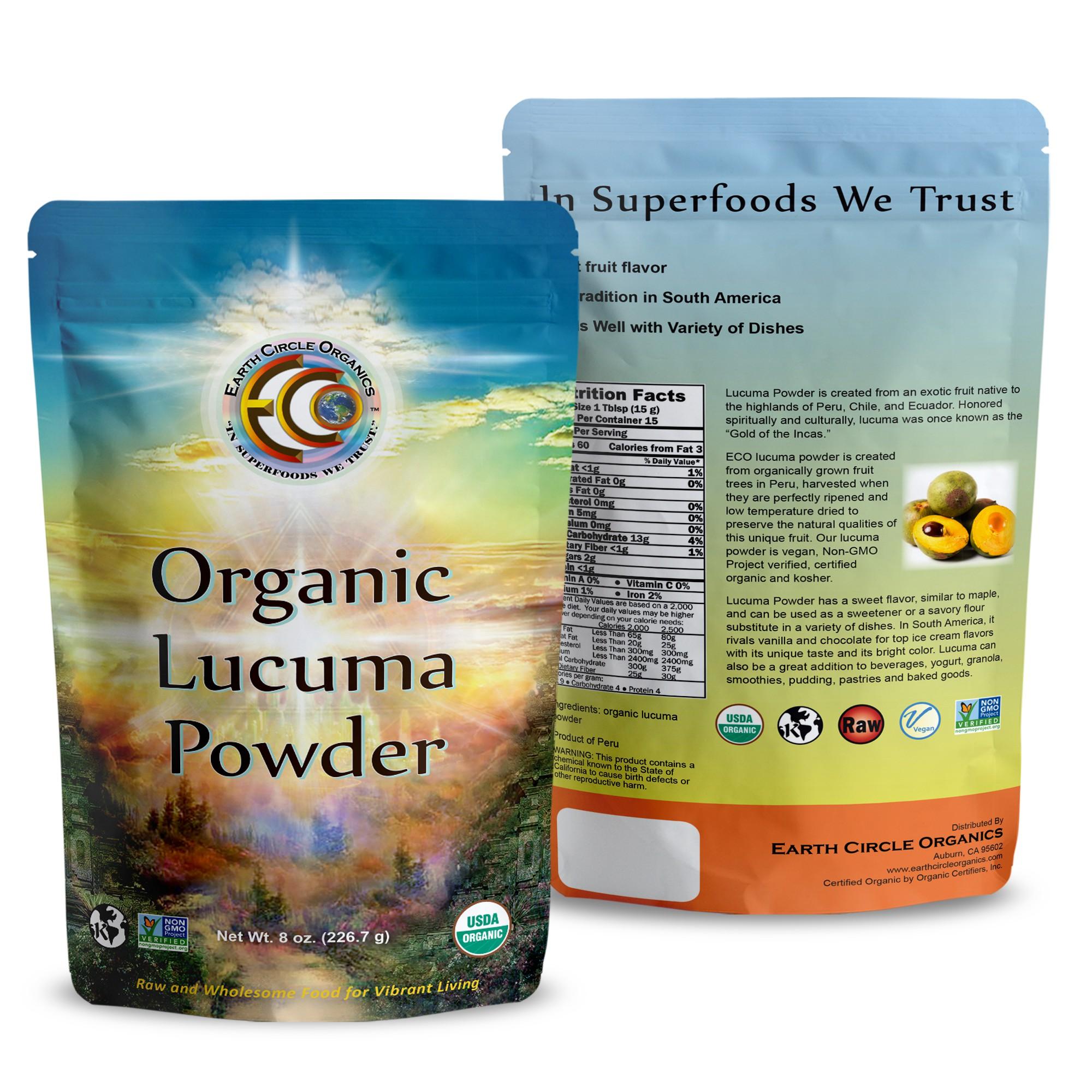Earth Circle Organics Lucuma Rendered bag design