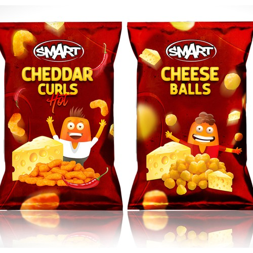Smart Cheese Snacks Package Design Winner