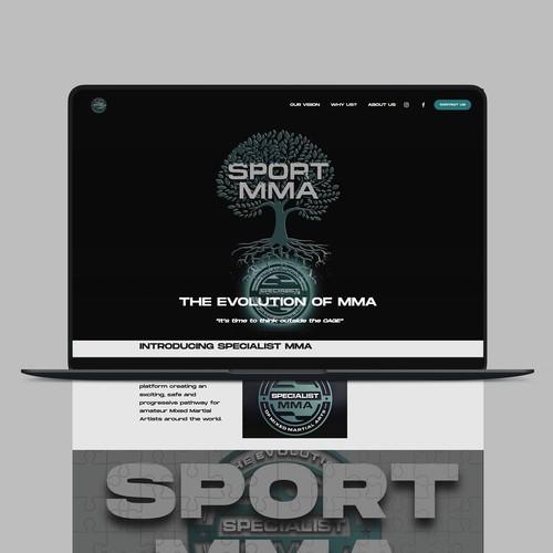 Specialist MMA Squarespace Website Design