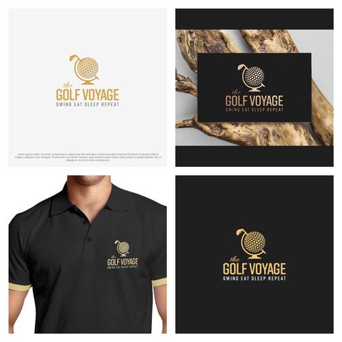 Golf Voyage - travel inspired logomark
