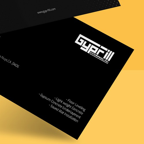 Business card design Gypfill company
