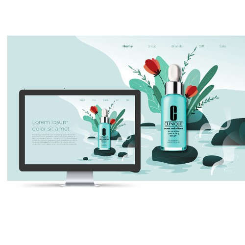 The illustrator for skin care website
