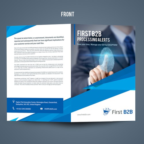 Brochure for First B2B Processing Alerts