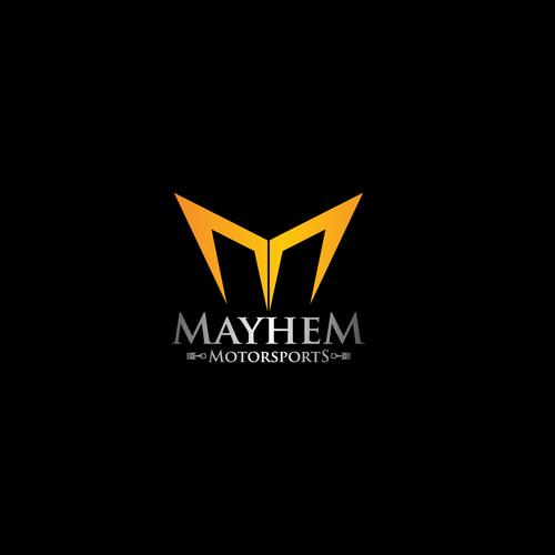 Create the next logo for MAYHEM MOTORSPORTS