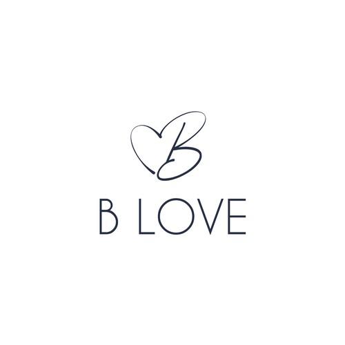 Minimalist logo for B Love