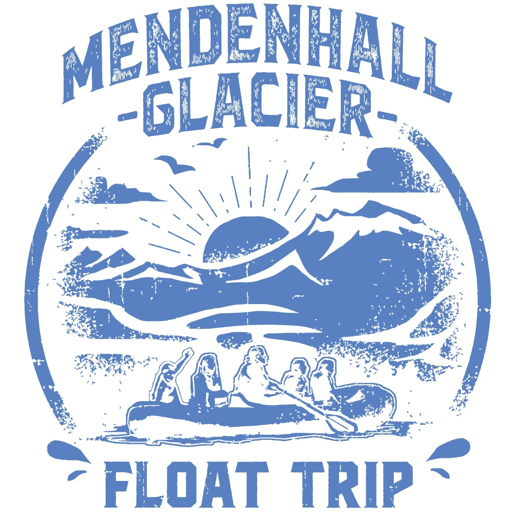 T shirt design for the exciting Mendenhall Glacier Float Trip in Juneau, Alaska!