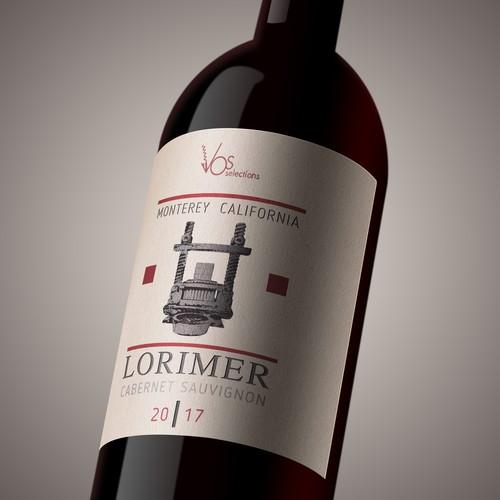 Wine label LORIMER_CS