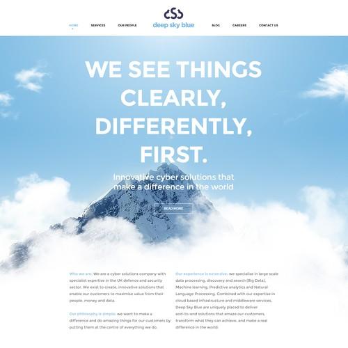 Deep Sky Blue website