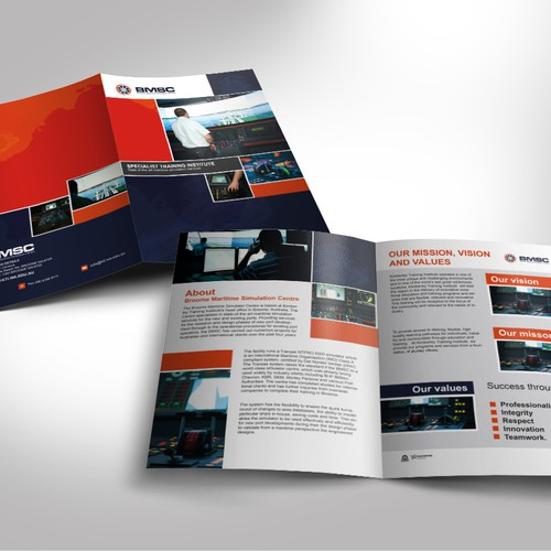 Help Broom Maritime Simulation Centre with a new brochure design