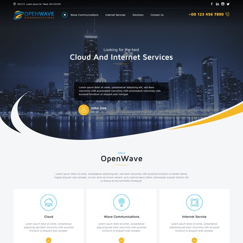 We broker cloud and internet services to businesses