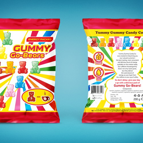 Package Design for Caffeinated Gummy Bears