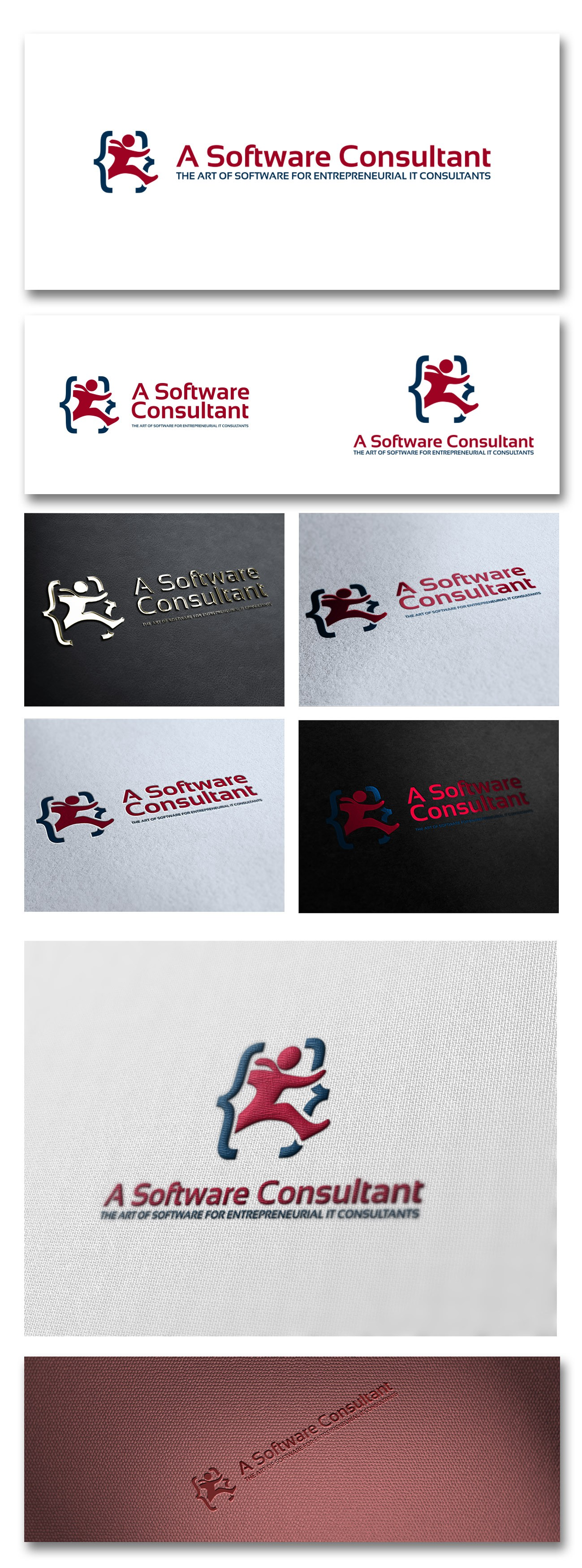 A Software Consultant Lives! Design my logo and get credits from my site!