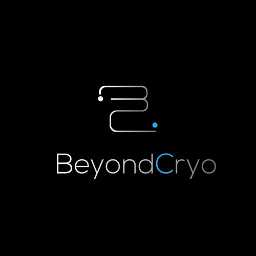 Modern liquid design logo for BeyondCryo