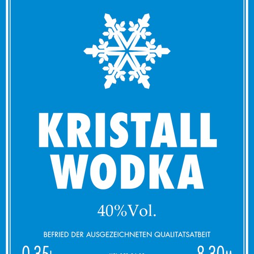 product label for Kristallwodka