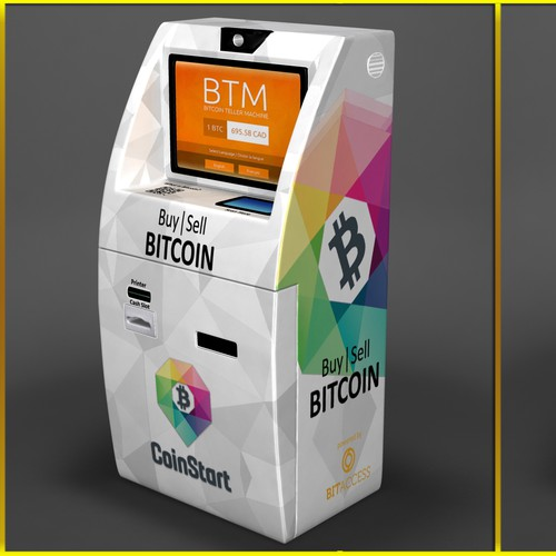 Create an eye catching Wrap for a Bitcoin ATM!
