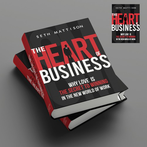 Modern, bold book hardcover for a business book – contest entry