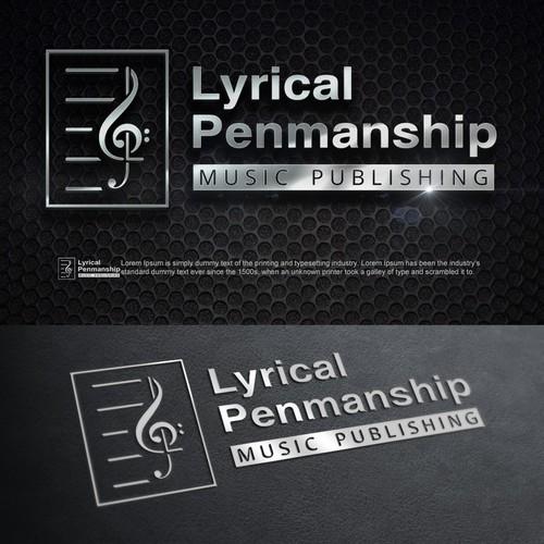 Creative logo concept for music publishing company