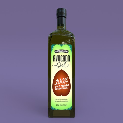 Avocado Oil Label