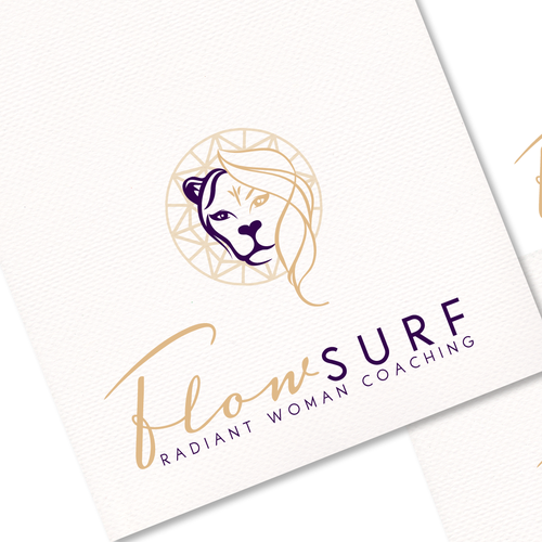 Create a stylish and impactful logo for FlowSurf`s Radiant Woman Coaching Program!