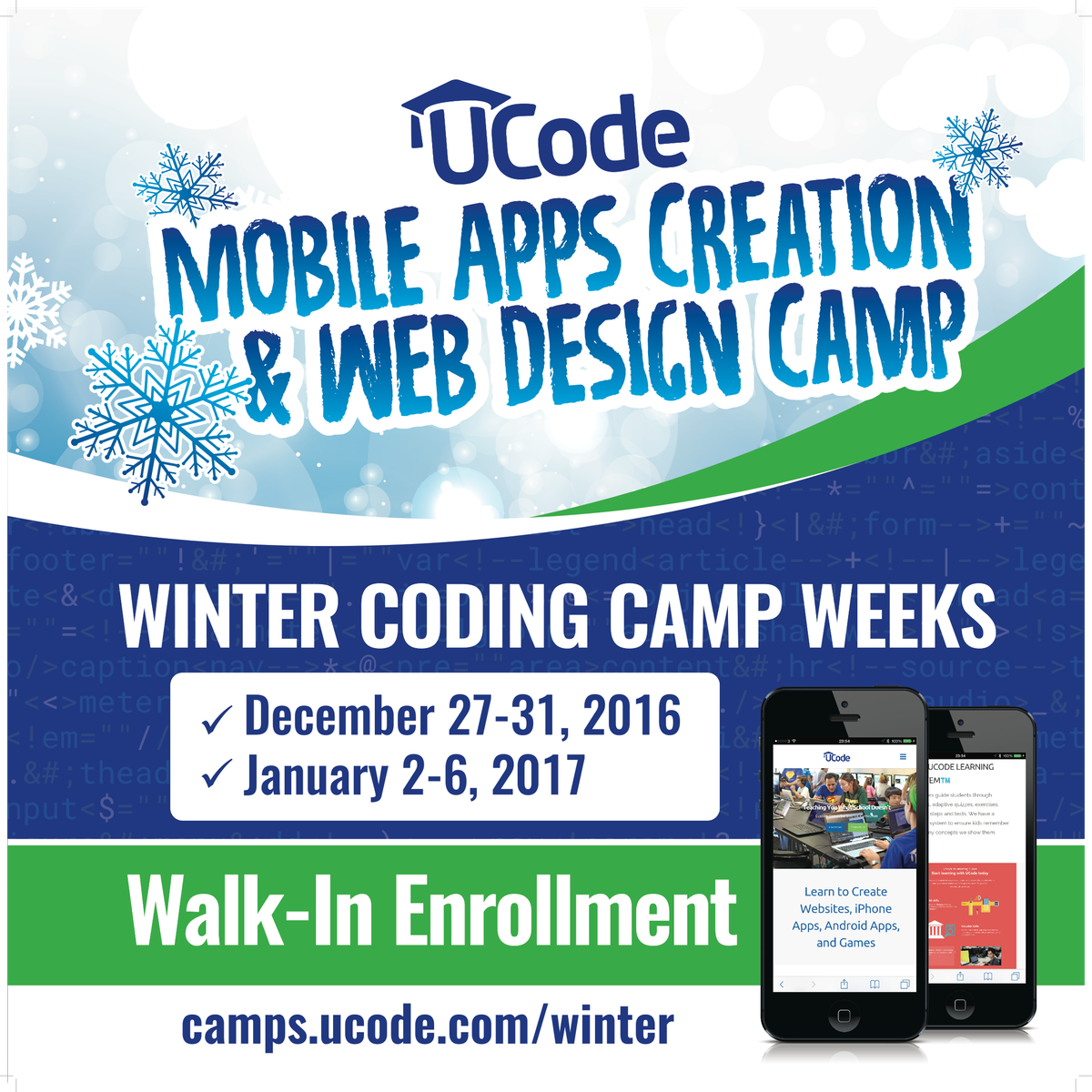 UCode Winter Camps Sign