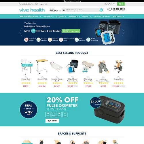 Healthcare Product E commarce website design
