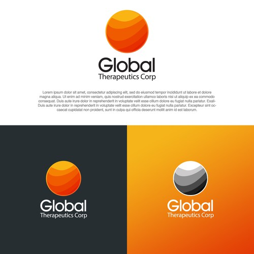 geometric gradient circle logo