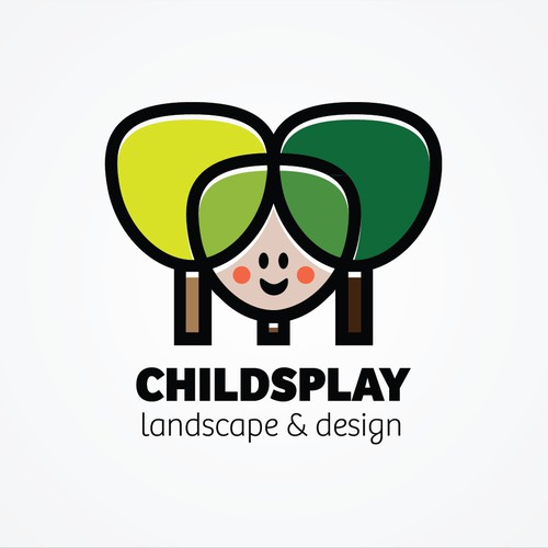 Create the next logo and business card for Childsplay Landscape and design