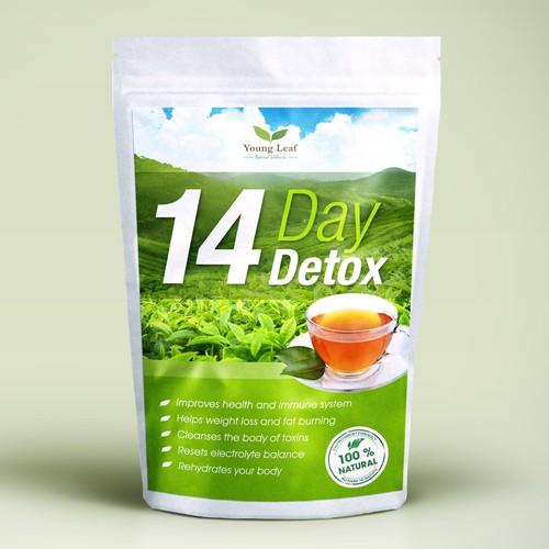14 Day Detox - Tea packaging design